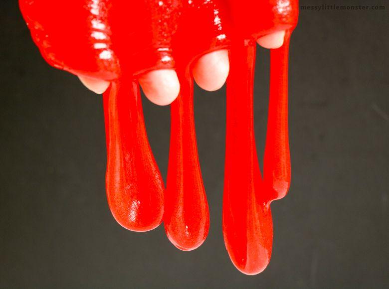 vampire blood slime recipe - sensory play recipes for kids