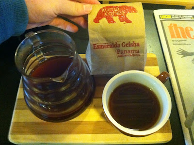 First Pour-Over @Tougo Coffee: Kuma Esmerelda Geisha