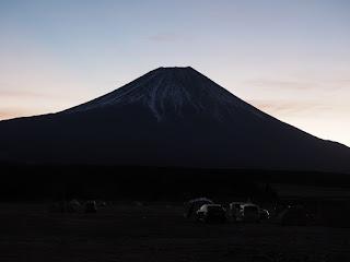 ふもとっぱらキャンプ場 富士山からの日の出