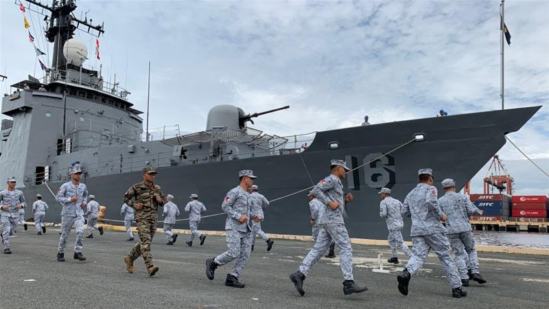 A Philippine navy ship with 200 crew gets ready to participate in the first ASEAN-US maritime exercise