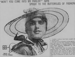 Virginia Rappe Spider-Web Hat