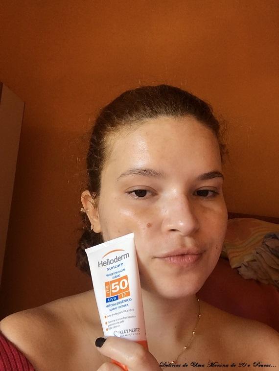 Protetor Solar Facial Helioderm FPS 50