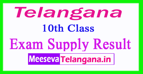 Telangana SSC 10th Class Supply Result 2018 Released At Bsetelangana Result 2017