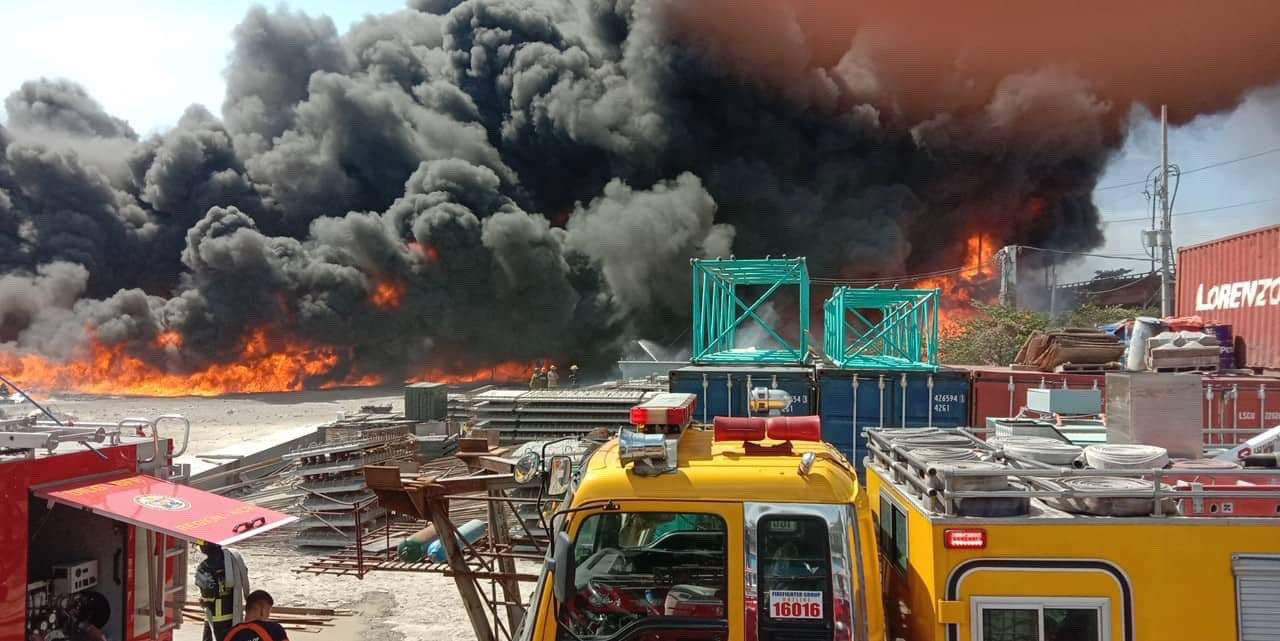 Fire hits San Miguel warehouse in Pandacan, Manila