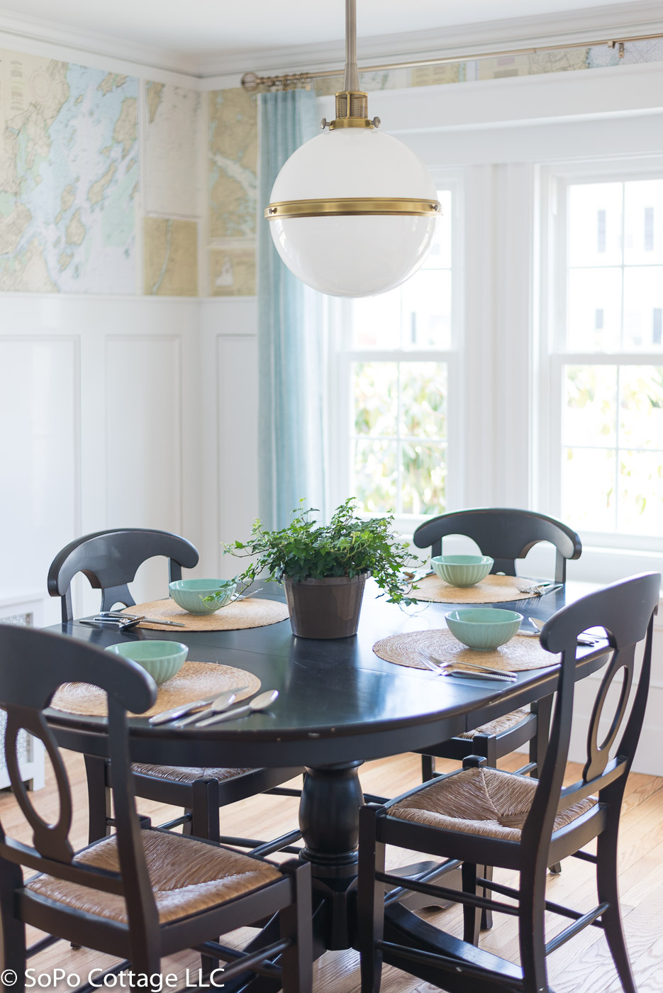 SoPo Cottage: Before and After Vintage Colonial: Dining Room and Kitchen