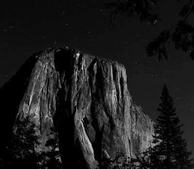 Yosemite black and White falls dome caroline gerardo