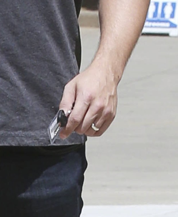 Ben Affleck is seen wearing a wedding ring again