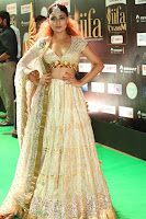 Apoorva Spicy Pics in Cream Deep Neck Choli Ghagra WOW at IIFA Utsavam Awards 2017 111.JPG