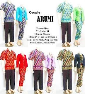 model baju batik sarimbit pasangan untuk santai
