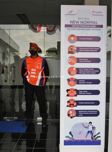 Protokol new normal untuk pengunjung Museum Kereta Api Ambarawa