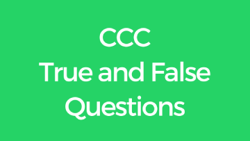 ccc true and false in english set 1
