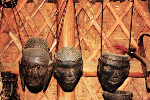 Exotic Konyak artifacts on sale in Longwa Village, Mon, Nagaland
