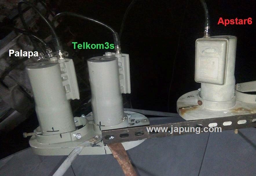 Cara Gabungkan Satelit Apstar6 C Telkom3S Palapa Dalam Satu