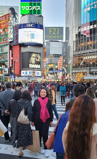 Shibuya Scramble Crossing, Tokyo Jepang