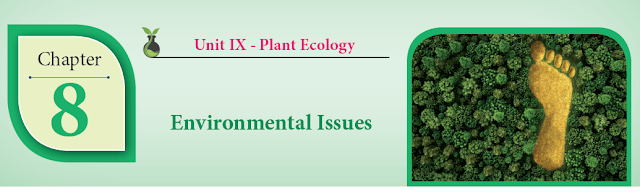 KALVISOLAI ONLINE TEST 99 - CLASS 12 BIOLOGY BOTANY - CHAPTER 8 ENVIRONMENTAL ISSUES - 1 MARK QUESTIONS - ONLINE TEST
