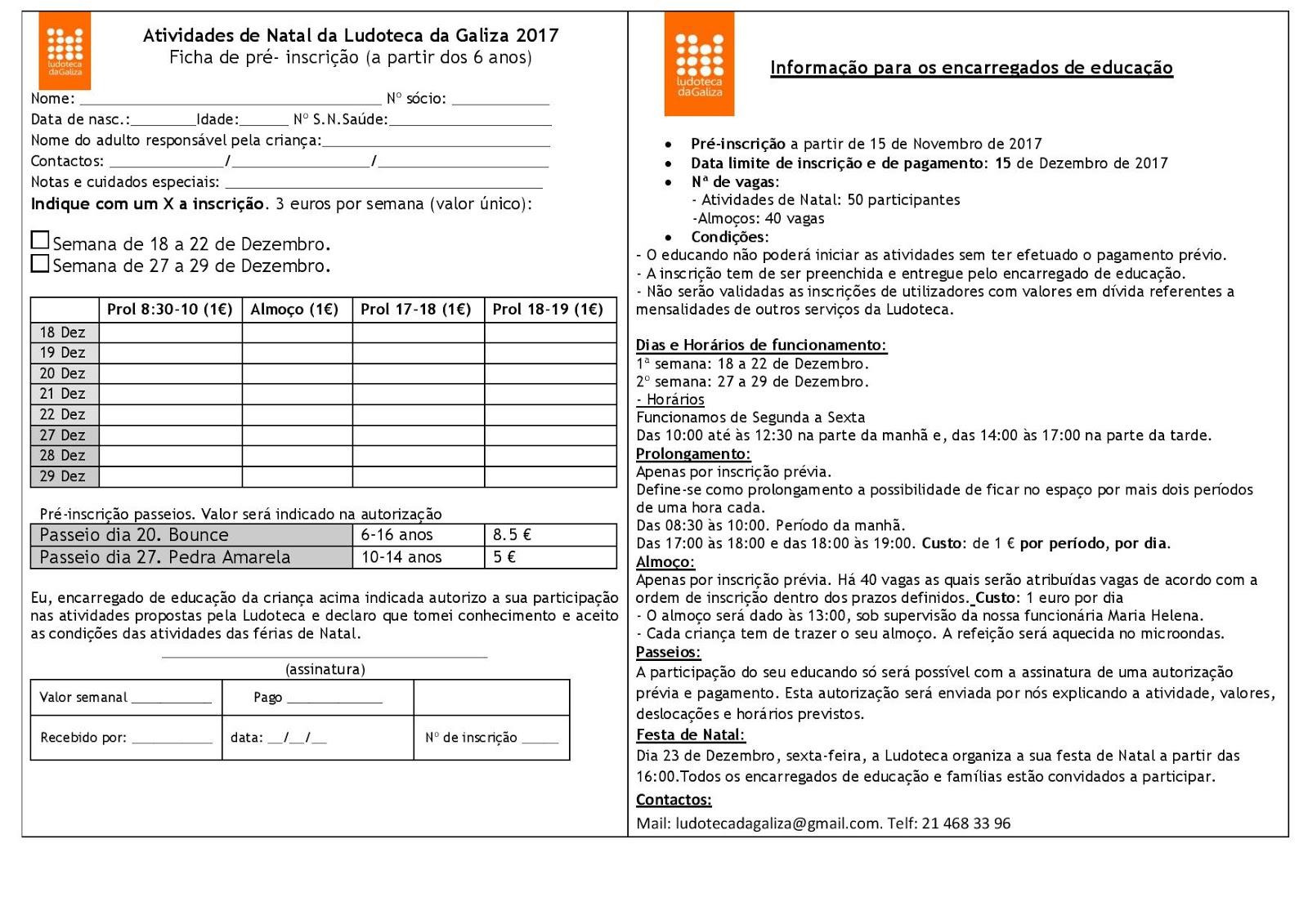 F rias de natal 2017 pr inscri es abertas for Limite pagamento contanti 2017