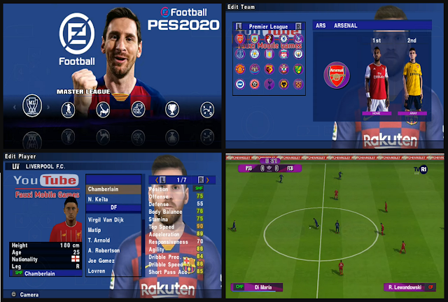 PES 2020 English Version by Fauzymobile PSP Android