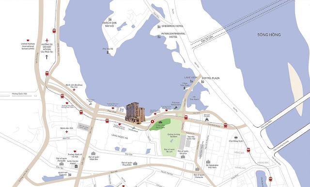 Vị trí của dự án sun grand city