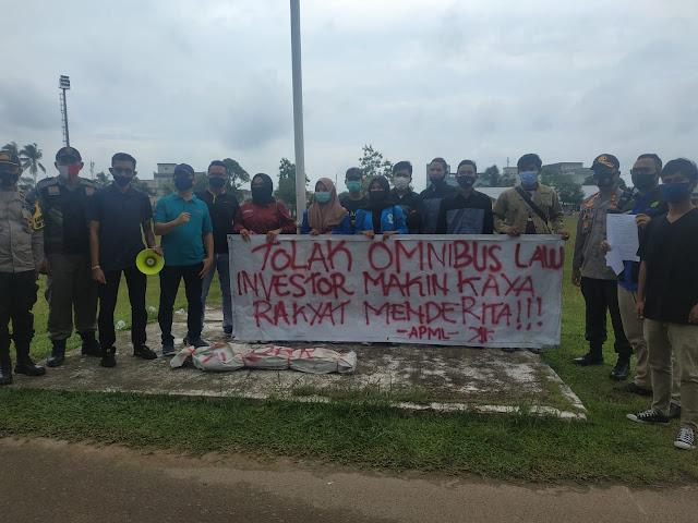 Polres Lingga Lakukan Pengamanan Terhadap Aksi Damai Yang Digelar Mahasiswa Lingga