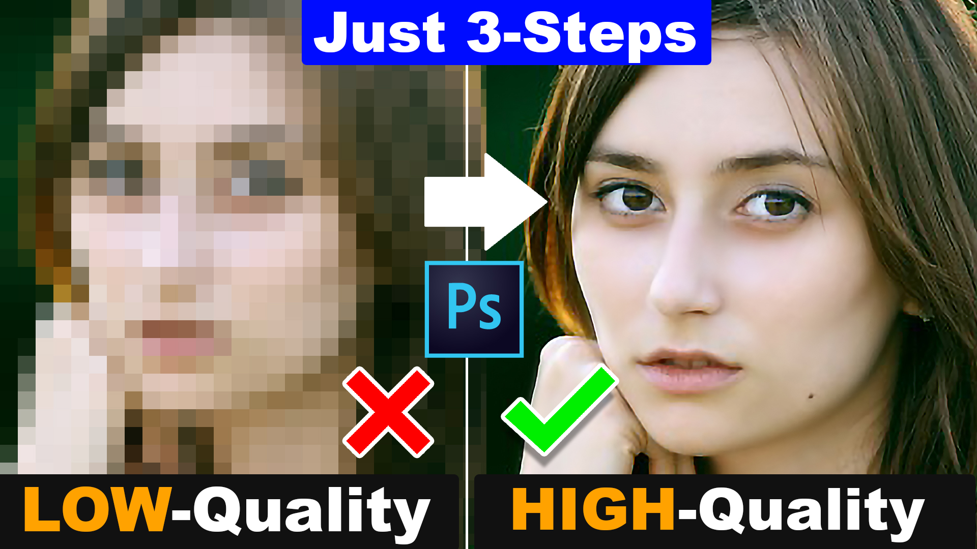 Convert Low-Quality Image into High-Quality