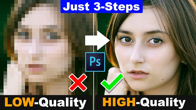 3 Simple Steps How to depixelate images and Convert Low Quality Image into High Quality
