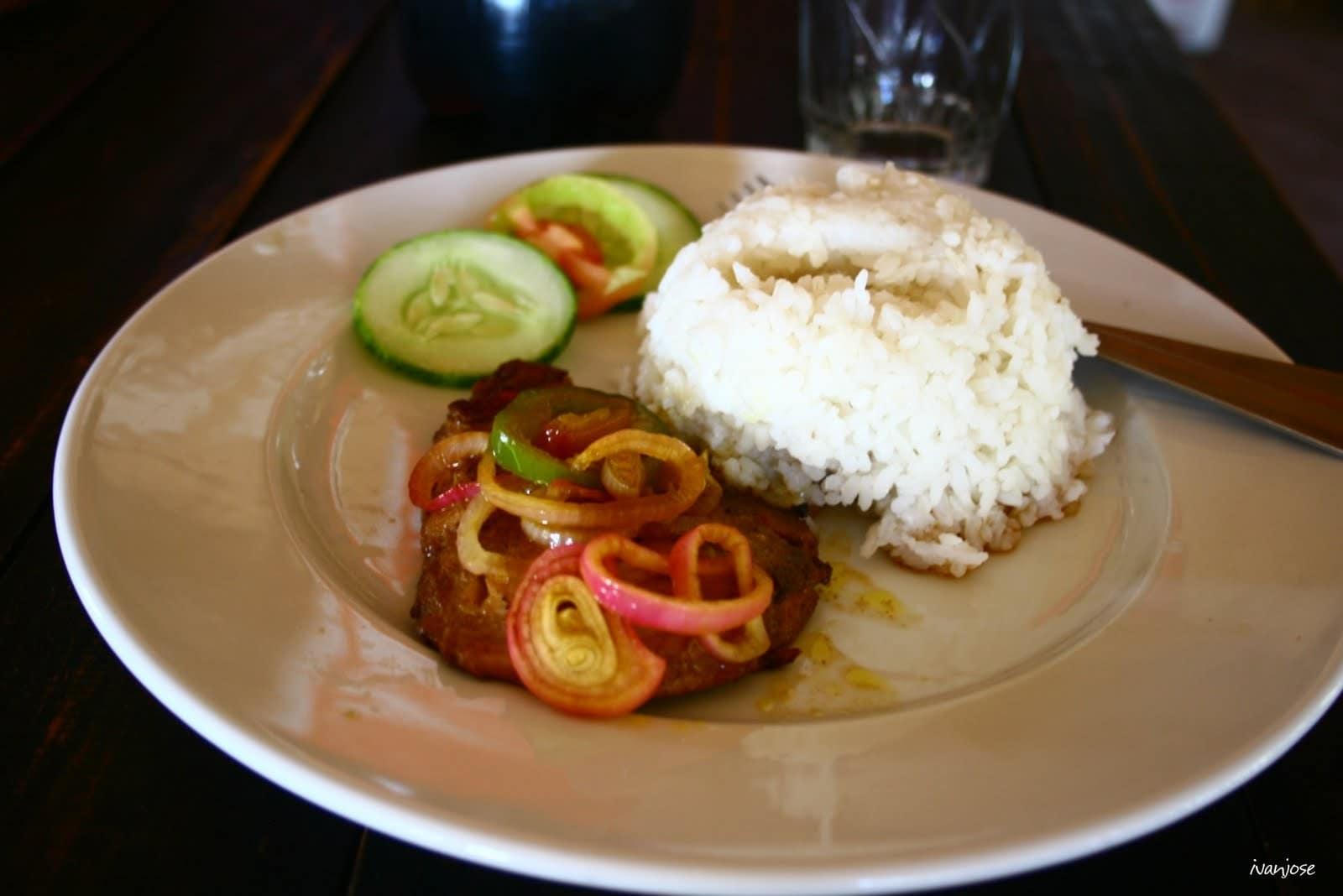 Fish belly steak from Isla Jardin del Mar Beach Resort's restaurant