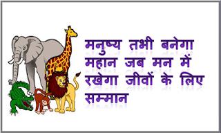 Slogans on Save Animals in Hindi