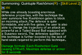naruto castle defense 6.0 Summoning Five Layer Rashomon detail