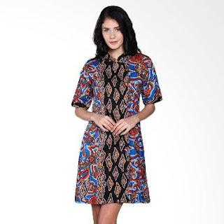 Contoh Dress Batik Etnik Modern Terbaru