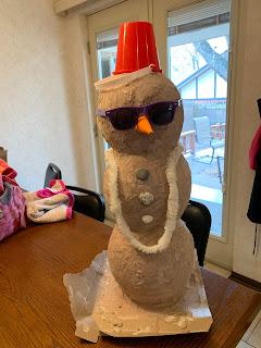 Paper Mache Sand-Man (Snowman)