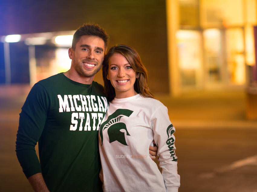 Ferndale Engagement Photography nightlife session - Sudeep Studio.com Ann Arbor