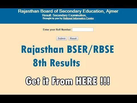 Rajasthan Board 8th Result 2018 Name & Roll Number Wise RBSE 8th Result