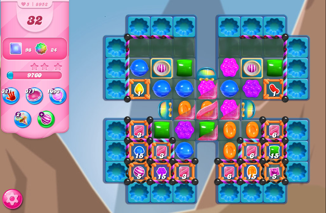 Candy Crush Saga level 8952