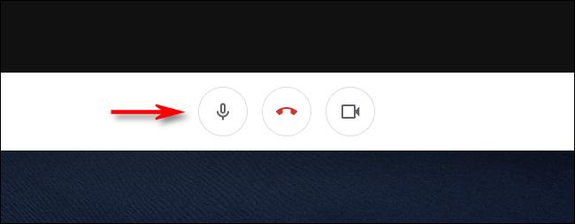 انقر على زر الميكروفون لكتم الصوت في Google Meet