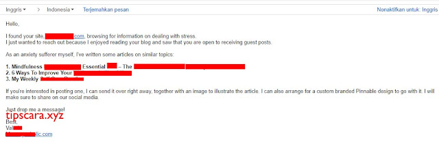 Contoh email manfaat guest post