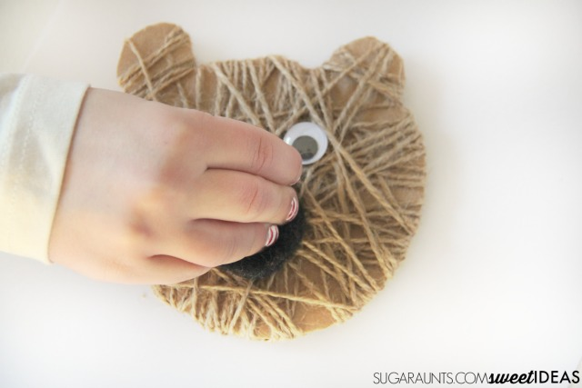 Kids love to make crafts like this bear craft based on a popular childrens book.