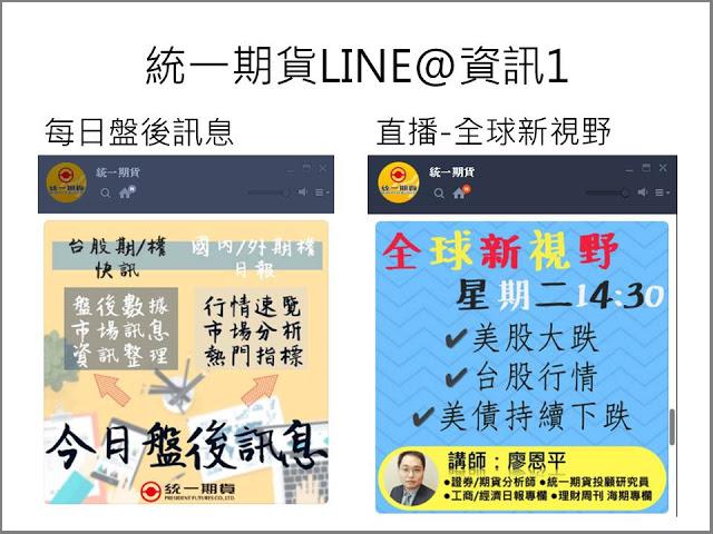 統一期貨幼幼: 加入統一期貨官方line@即時掌握最新資訊