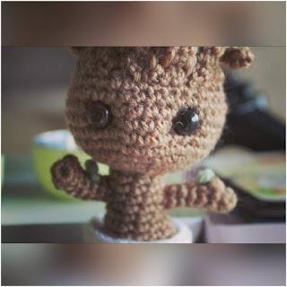 patron amigurumi Groot crochet y amigurumis