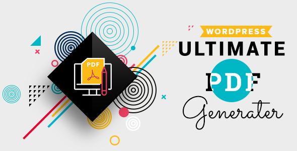 WP Ultimate PDF Generator v1.0.7