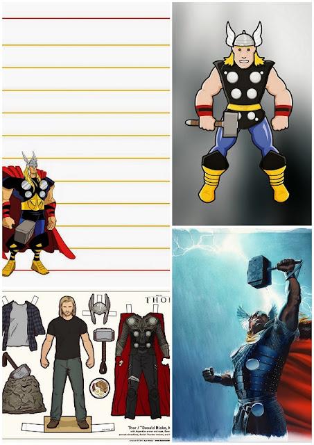 Imprimibles Gratis de Thor.