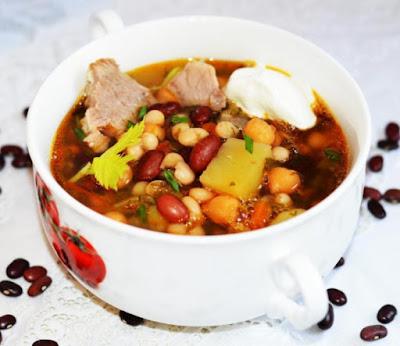 Суп с красной фасолью рецепт-картинка