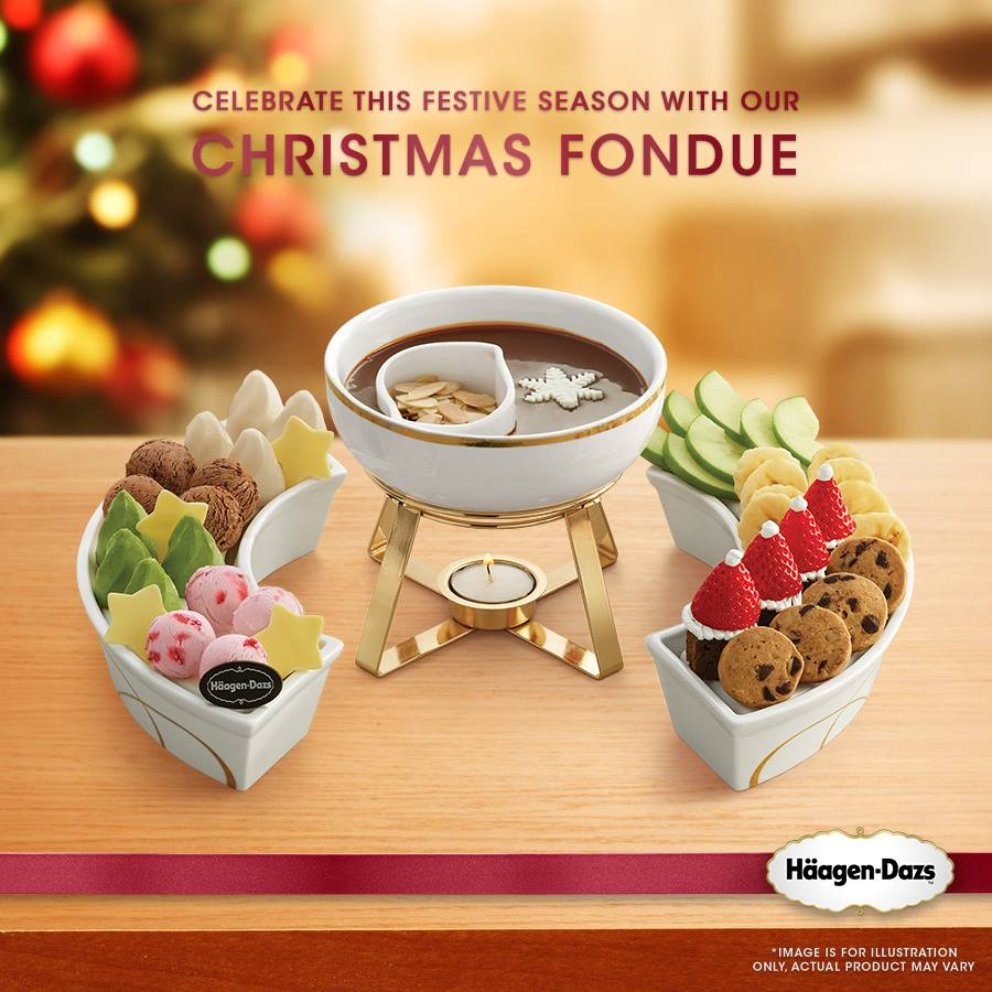 Häagen-Dazs Christmas Fondue 16 Mini Scoops + Fruits ...