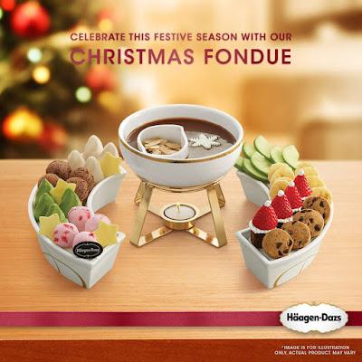 Haagen-Dazs Malaysia Christmas Fondue Ice Cream Scoops