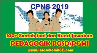 100+ Contoh Soal Pedagogik SKB PGSD/PGMI  dan Kunci Jawaban Tahun 2020