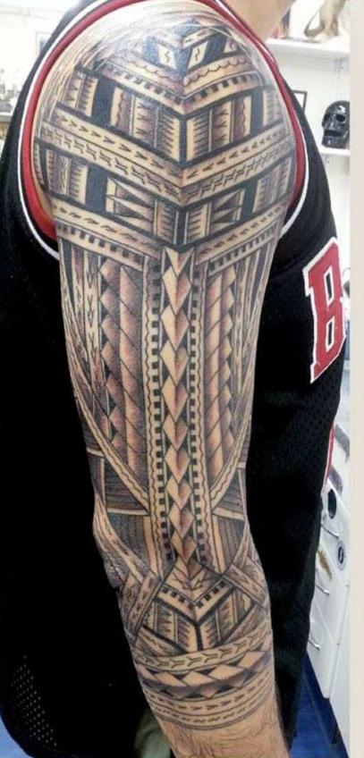Maori Patterns Tattoo: Arm Tattoos For Men-Tattoo Patterns