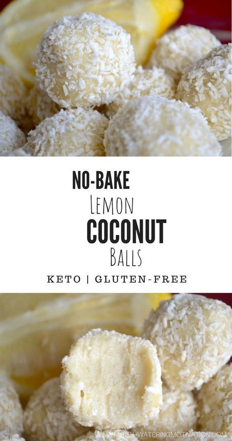 (NO-BAKE) KETO LEMON COCONUT BALLS
