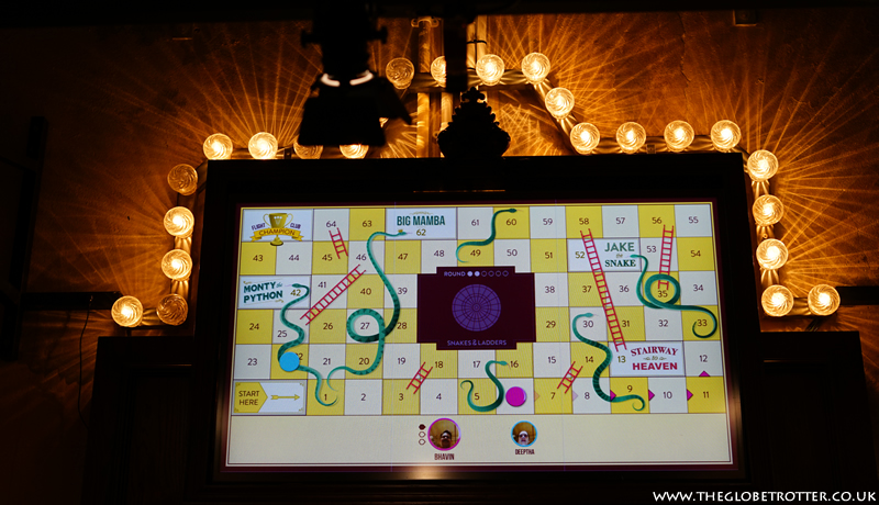 Snakes and Ladders game at Flight Club Social Darts