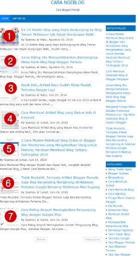 Cara Mengatur Jumlah Postingan yang Tampil di Halaman Utama/HomePage/Beranda Blog Lewat Dasbor Blogger Blogspot