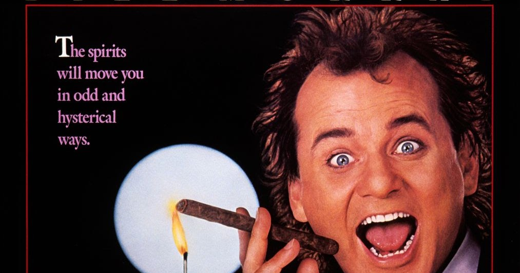 1988 Movie Posters: Holiday Film Reviews: Scrooged (1988