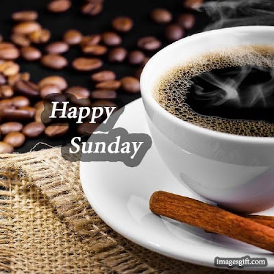 happy sunday images coffee